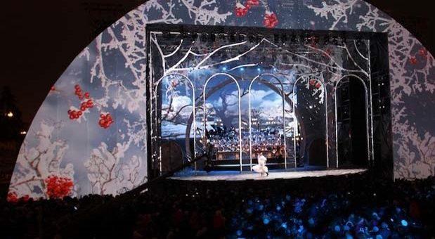 LIGHTCONVERSE в 3D шоу-спектакле «Рождественский вальс»