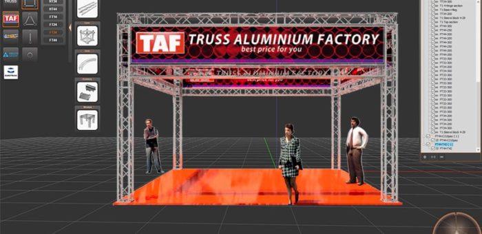 Акционная цена на алюминиевые конструкции «TAF»